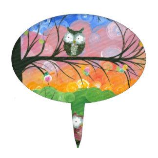 Hoolandia c 2013 – Owl Family Trees Cake Picks