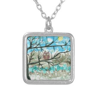 Hoolandia c 2013 – Owl Seasons - Winter Personalized Necklace