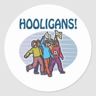 Hooligans Round Sticker