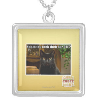 Hoomans Taek There fur OFF? Silver Plated Necklace