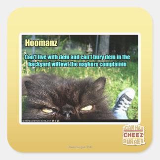 Hoomanz Square Sticker