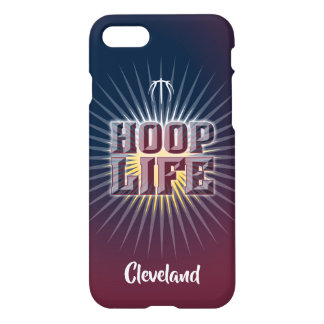 Hoop Life basketball series navy blue and maroon iPhone 8/7 Case
