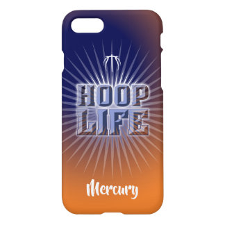 Hoop Life basketball series navy blue and orange iPhone 8/7 Case