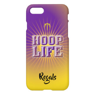 Hoop Life basketball series purple & yellow-gold iPhone 8/7 Case
