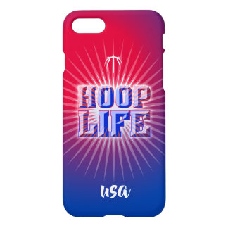 Hoop Life basketball series red, white and blue iPhone 8/7 Case