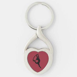 HOOP LOVE - AERIAL HOOP / LYRA Silhouette Key Ring