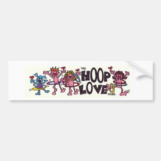 Hoop Love Bumper Sticker