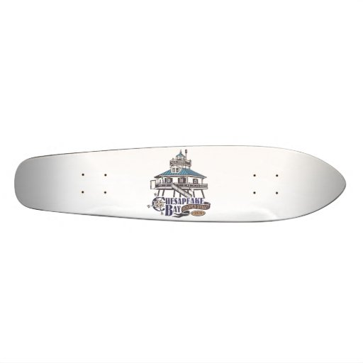 Hooper Strait Lighthouse. Custom Skate Board
