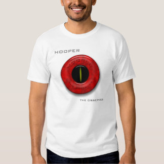 """HOOPER """"THE OBSERVER"""" White T - Album Cover T-shirt"""