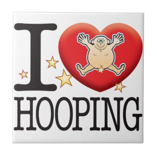 Hooping Love Man Small Square Tile