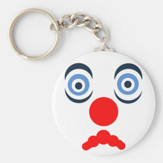 Hoopla Clown Design Basic Round Button Key Ring