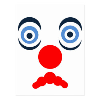 Hoopla Clown Design Postcard