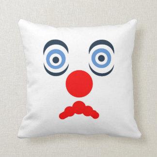 Hoopla Clown Design Throw Pillow Throw Cushion