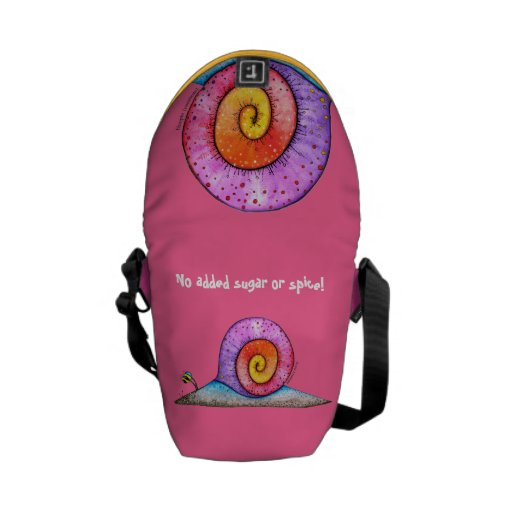Hoopla Snail - no added sugar or spice. Messenger Bags