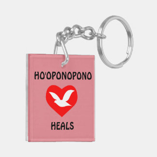 Ho'oponopono Healing Two Sided Square Key Ring Double-Sided Square Acrylic Key Ring