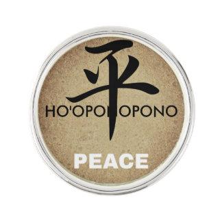 Ho'oponopono Peace Sliver Plated Lapel Pin