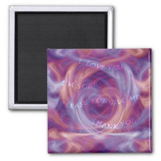 Ho'oponopono Purple Smoke Magnet