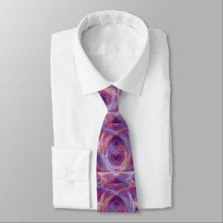 Ho'oponopono Purple Smoke Tie