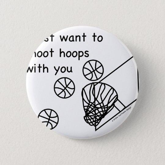 Hoops 6 Cm Round Badge