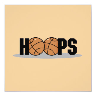 Hoops Basketball T-shirts and Gifts 13 Cm X 13 Cm Square Invitation Card