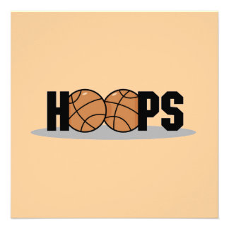 Hoops Basketball T-shirts and Gifts Personalized Announcement