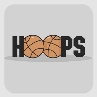 Hoops Basketball T-shirts and Gifts Square Stickers