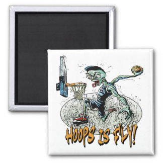 Hoops is Fly by Mudge Studios Square Magnet