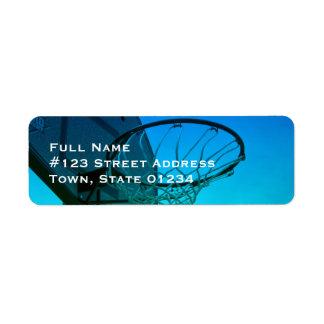 Hoops Mailing Label Return Address Label