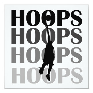 Hoops Silhouette T-shirts and Gifts 13 Cm X 13 Cm Square Invitation Card