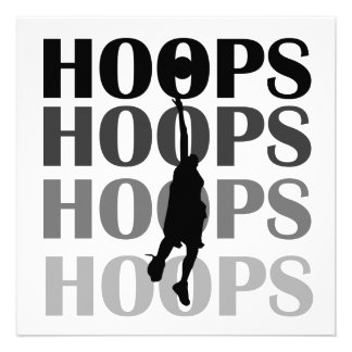 Hoops Silhouette T-shirts and Gifts Custom Invite