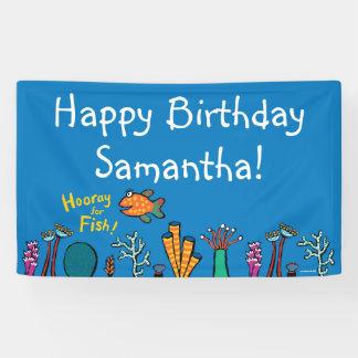 Hooray for Fish Birthday Banner