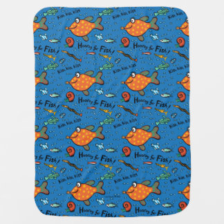 Hooray For Fish Pattern Baby Blanket