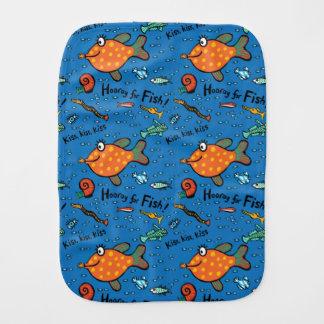 Hooray For Fish Pattern Burp Cloth