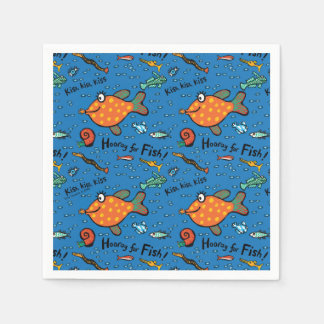 Hooray For Fish Pattern Disposable Serviette