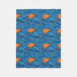 Hooray For Fish Pattern Fleece Blanket