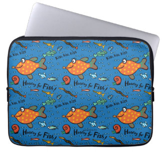 Hooray For Fish Pattern Laptop Computer Sleeve