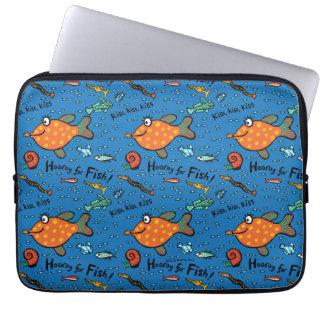 Hooray For Fish Pattern Laptop Sleeve