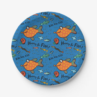 Hooray For Fish Pattern Paper Plate