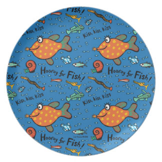 Hooray For Fish Pattern Plate