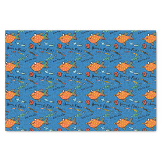 Hooray For Fish Pattern Tissue Paper