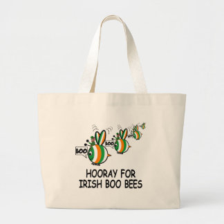 Hooray for Irish boo bies Large Tote Bag