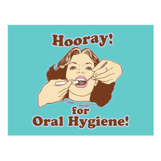 Hooray for Oral Hygiene Post Cards