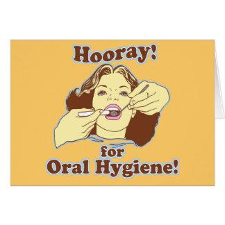 Hooray for Oral Hygiene Retro Greeting Card