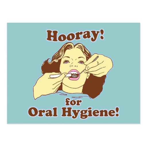 Hooray for Oral Hygiene Retro Post Cards