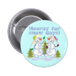 HOORAY For Snow Days! Pinback Buttons