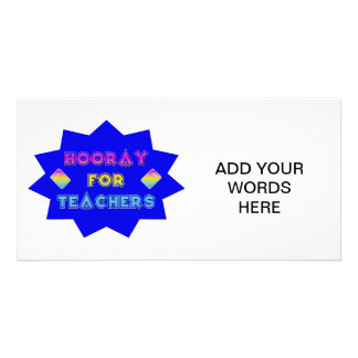 Hooray for teachers photo greeting card