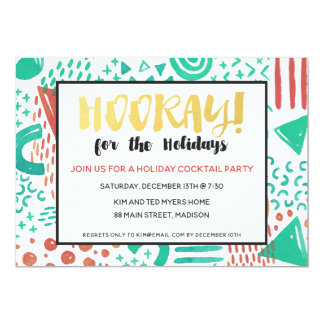 Hooray for the Holidays Christmas Party Invitation