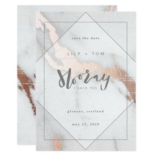 HOORAY, I SAID YES!-SAVE THE DATE 13 CM X 18 CM INVITATION CARD