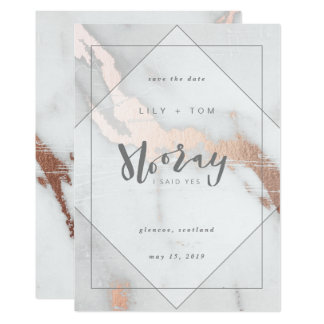HOORAY, I SAID YES!-SAVE THE DATE CARD