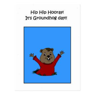 Hooray its Groundhog day postcard